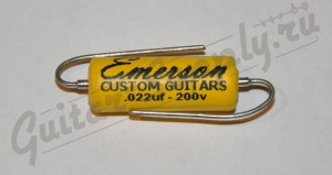 Emerson Custom paper-in-oil cap, 0,022 uf, 200V ― Guitar-Supply.ru