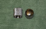 Early 50's Broadcaster Dome Heavy Knurled Knobs, set of 2