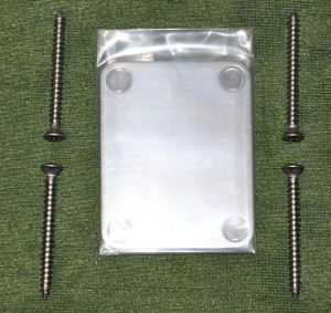 Stainless Steel Neck Plate, satin ― Guitar-Supply.ru