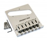 Hipshot 6 saddle stainless tele bridge, 3 hole (44100-36)